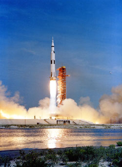 Liftoff of Apollo 11, July 16, 2009. Source: The Project Apollo Archive