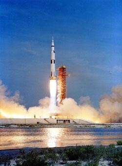 Liftoff of Apollo 11, July 16, 2009. Source: The Project Apollo Archive