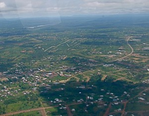 Douala from the air