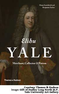 Cover of the book. The image shows Yale at the age of 68 in a portrait by Enoch Seeman the Younger.