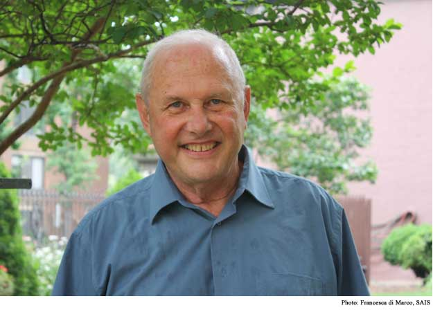 """A polymath profiling his peers. Fred Starr's Johns Hopkins biography says """"his research on the countries of Greater Central Asia, their history, development, internal dynamics, as well as on US policy towards the region has resulted in twenty-two books and 200 published articles."""" And that's not counting his works on Russia, architecture, New Orleans houses, and New Orleans food. Here, he pauses to enjoy the climate of ideas in Washington, DC."""