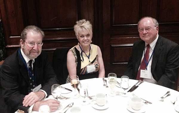 Table Talk. L-R: John and Donna Chapman, John Blouch