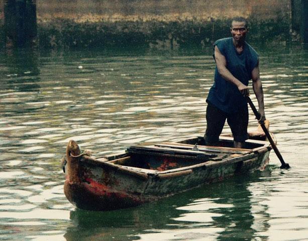A riverman in Ghana