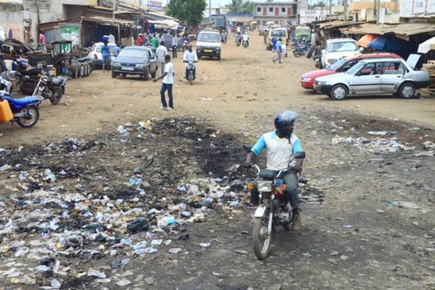 A street scene in Togo.